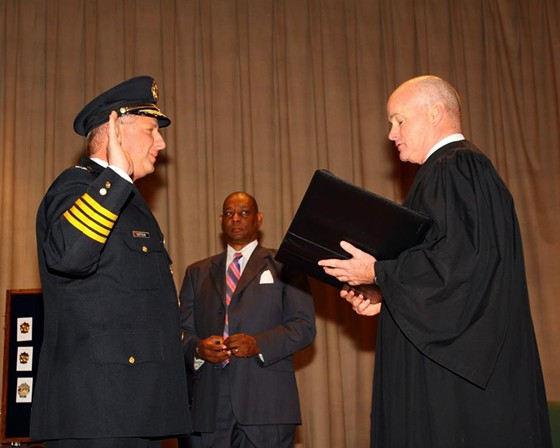 Chief Sam Dotson taking oath of office earlier this year. - VIA FACEBOOK