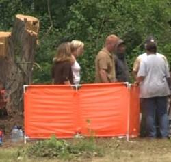 Washington Park Cemetery yesterday. - VIA FOX2NOW.COM SCREENSHOT