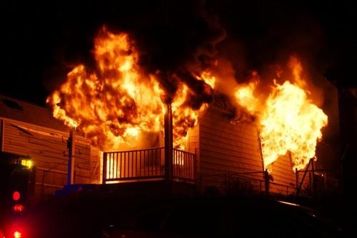 One of Ben Mazanec's photos from a fire scene. - BEN MAZANEC