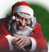 Beware pervy/prying Santa - IMAGE VIA