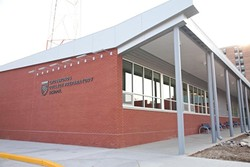 Crossroads' new science and library building.