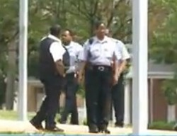 Security guards at Clyde Academy. - VIA KSDK