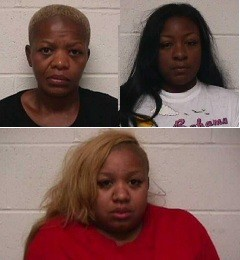 Geneen Green, Sharrel Evans and Britley Green (clockwise from top left).