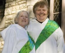 The Revs. Elsie McGrath and Rose Marie Hudson - PHOTO: JENNIFER SILVERBERG