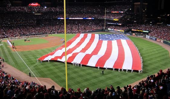 Observation 1: That was a friggin' big flag they unfurled at the start of the game.