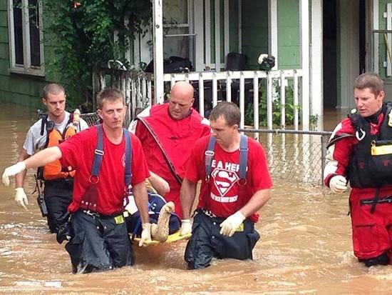 Flooding in Waynesville. - VIA FACEBOOK / CITY OF ROLLA FIRE & RESCUE