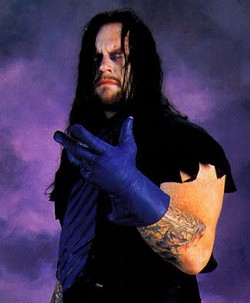 The Undertaker, not on fire. - IMAGE VIA