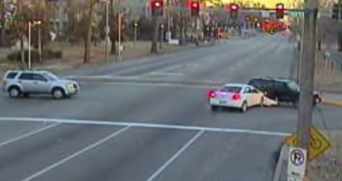 A new video shows collisions captured by red light cameras. - AMERICAN TRAFFIC SOLUTIONS