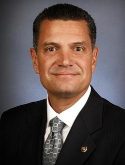 State Sen. Jim Lembke has a reason to smile.