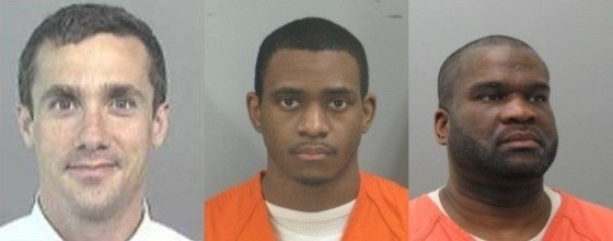 Luke Meiners (left) was murdered in 2008. Ronald Johnson (center) and Cleophus King (right) have been charged.