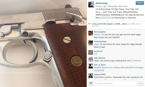 An Instagram post Brinsley published hours before killing two police officers. - INSTAGRAM