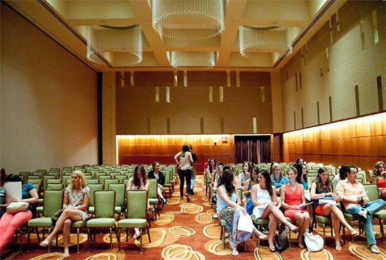 Like most auditions, The Bachelor's casting call involved lots of waiting around. - CAROLINE YOO