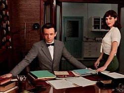 Michael Sheen and Lizzy Caplan look just like the professors wandering around at Wash U. - CRAIG BLANKENHORN/SHOWTIME