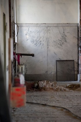 The remains of executive director Waller McGuire's private bathroom. - KHOLOOD EID