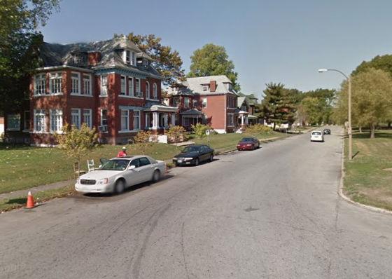 Block where the victim was found last night. - VIA GOOGLE MAPS
