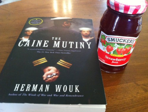 The book and jam sent to Saunders and her supporters. - DOUG MINER, PATCH.COM