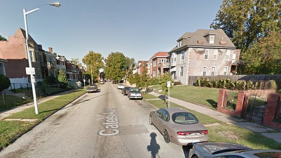 The 5000 block of Cates Avenue, where Leon Rivers was shot and killed in the street. - GOOGLE MAPS