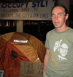 Ryan LeClair has been protesting since Saturday.