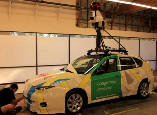 Example of the Street View car. - VIA