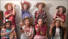 The Raging Grannies stick it to Todd Akin - IMAGE VIA