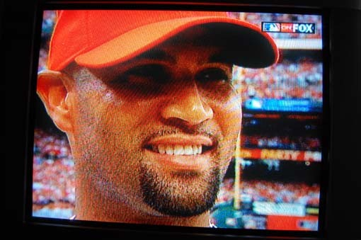 A beaming Pujols.