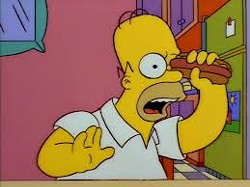 Don't throw a hotdog down a hallway, chuck it at an eye socket!