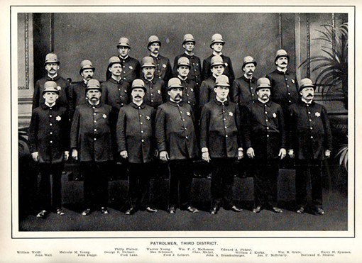 Union sympathizers? Turn-of-the-century St. Louis cops. - WWW.MOHISTORY.ORG