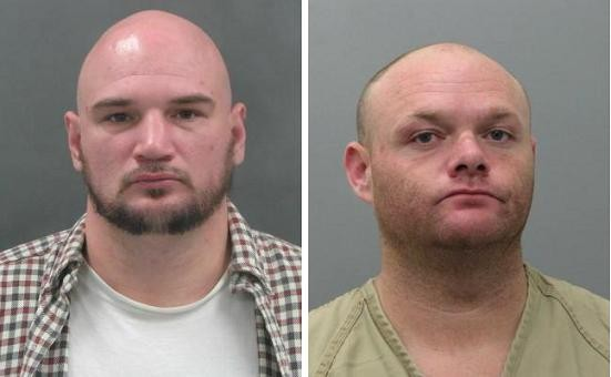 Joshua Hammett and Todd McCubbins held a woman captive as they robbed her home, according to police.