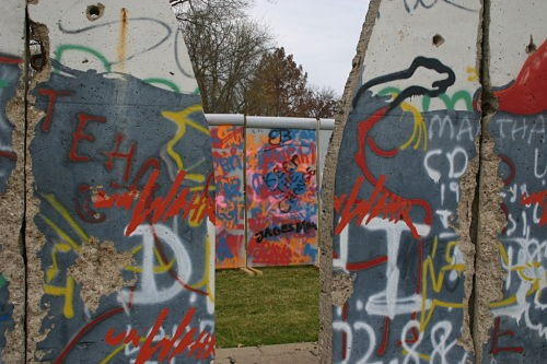 Foreground: original Berlin Wall. Background: Berlin Wall of Westminster. - ROB CROUSE