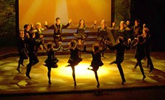 """You know you want you some Riverdance: In the opening """"Reel Around the Sun,"""" the stage throbs with a kind of orgiastic splendor."""
