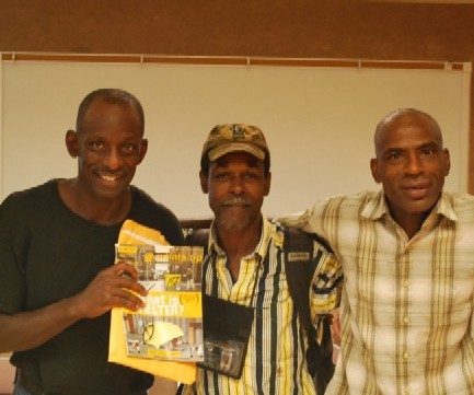 Whats Up vendors Kenneth Compton, La Maar Williams and Ed Little.