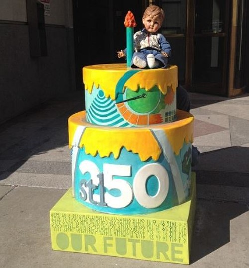 Johnny Slouch loves discovering St. Louis birthday cakes. - COURTESY OF TRAVIS SHERIDAN