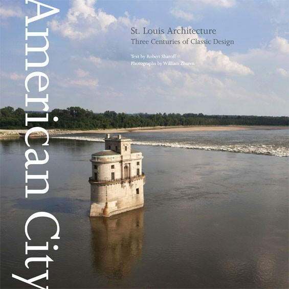 The intake tower at the Chain of Rocks bridge serves as the cover image for Robert Sharoff and William Zbaren's new book about St. Louis architecture.