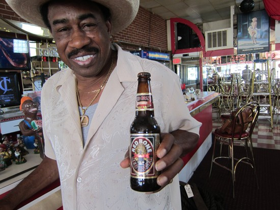 """Back in brews: Warren """"Red Bone"""" Lytle closed down his north-side tavern last month, but Red Bones Den soon came out of hibernation. - BEEZELBUB"""