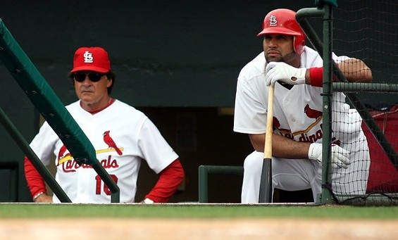 TLR and El Hombre just needed some space after Friday's game against the Angels - IMAGE SOURCE