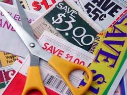 Maybe it's safer to get those coupons the old-fashioned way -- via scissors and a newspaper.