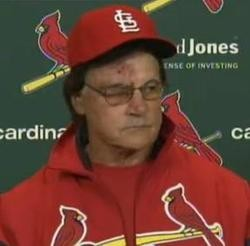 La Russa of his eye: It's like bad makeup in a horror movie. - IMAGE VIA FOX SPORTS MIDWEST