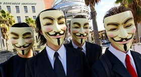 """The Anonymous slogan: """"We do not forgive. We do not forgive. Expect us."""""""