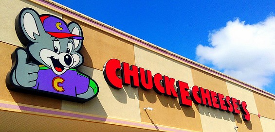 "Chuck E. Cheese, where ""a kid can be a kid"" and adults attack each other with knives. - JEEPERSMEDIA VIA FLICKR"