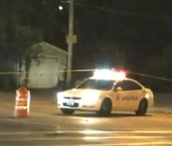 Crime scene early Wednesday morning. - VIA KTVI