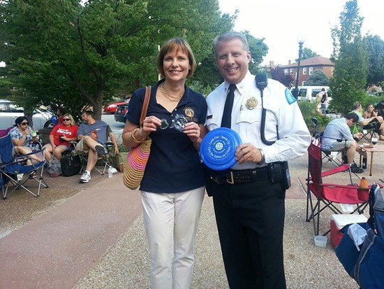 Circuit Attorney Jennifer Joyce and Police Chief Sam Dotson. - VIA FACEBOOK / SLMPD