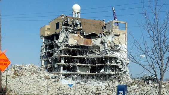 Demolition begins on Forest Park Hospital. - ALLISON BABKA