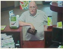 "The ""Granddad Bandit"" robs a St. Louis Bank of America in May."
