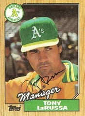 Ain't I buff enuf? Tony La Russa, back in the day.