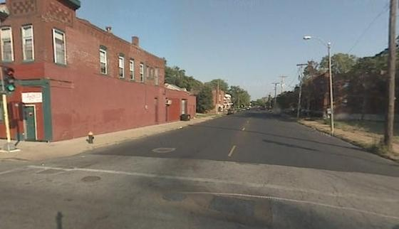 The 4300 block of Lee as viewed from N. Newstead Avenue.