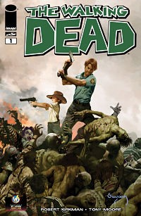 "This variant cover by Arthur Suydam for ""The Walking Dead"" #1 is a St. Louis exclusive. - PROVIDED BY WIZARD WORLD"