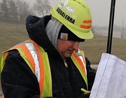 Worker at Bridgeton landfill. - VIA