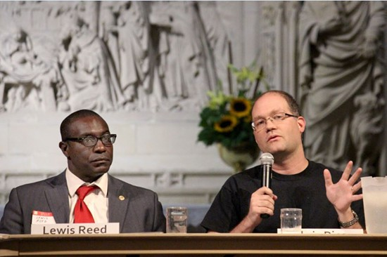 Reverend Chris Rice, of the New Life Evangelistic Center, said expressed his concern about the future of homeless services in downtown. - DANNY WICENTOWSKI