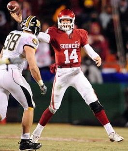 Bad memories be damned, Mizzou fans shouldn't mind that Bradford is a Sooner. - IMAGE VIA