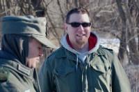 Chris Grega during the filming of Rhineland.
